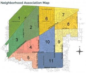 Neighborhood Association map