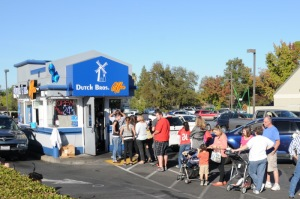 Dutch Bros Coffee holds Proceeds Day to benefit families of slain officers. Photo credit: Luke Otterstad