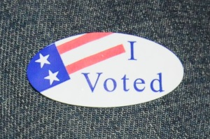 I voted sticker. Photo credit: Luke Otterstad
