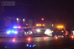 Pedestrian hit by car Saturday night on Auburn Blvd in Citrus Heights. Photo by Luke Otterstad