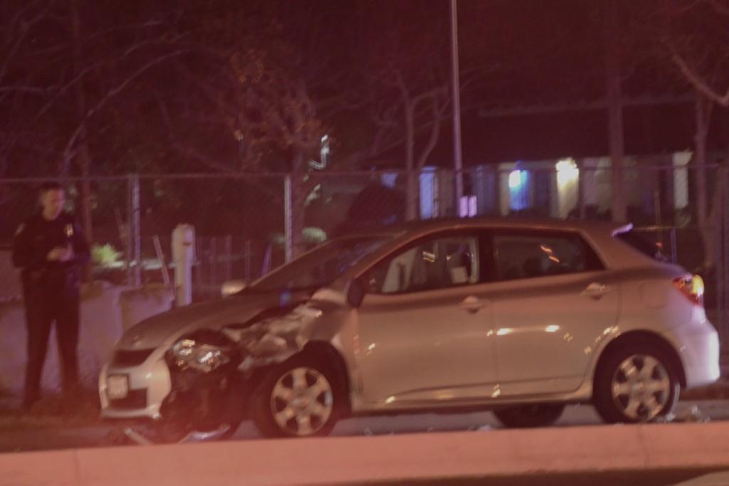 Car vs pedestrian accident. Photo by Luke Otterstad